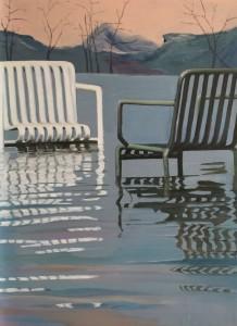 to stole står i vand