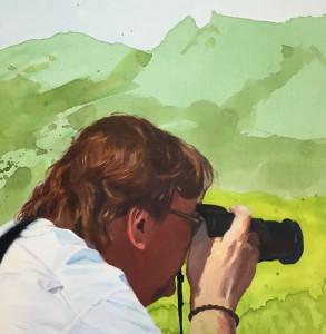 Turist II ` 36 x 36 cm