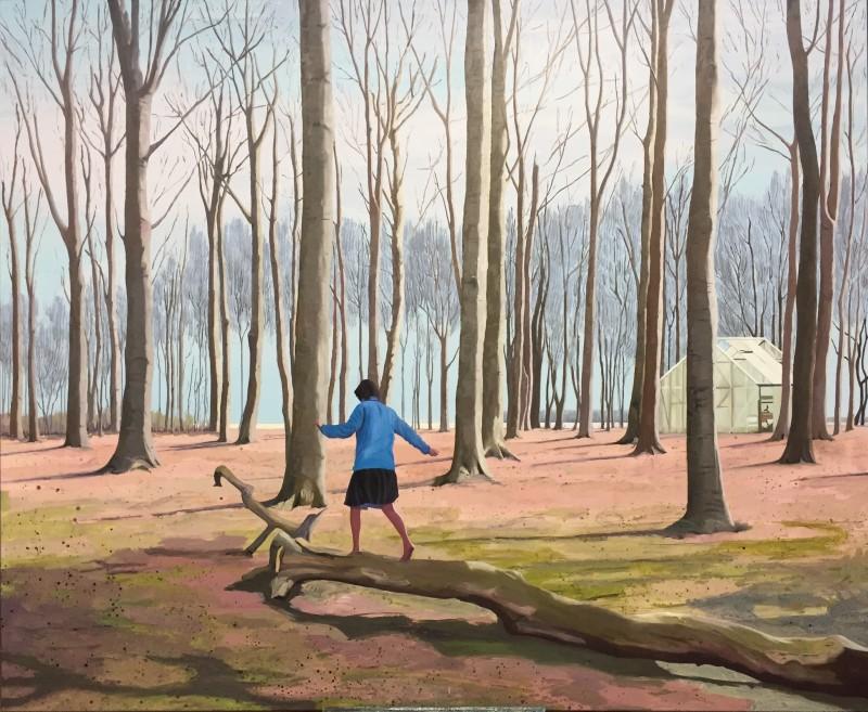 Kunsten at finde balance - 165 x 200 cm