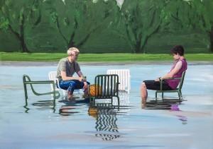 maleri af to drenge, basketbold, Hay loungestole, Statens museum for kunsk, SMK