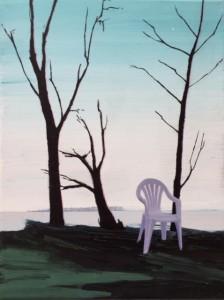 plastic stol i landskab
